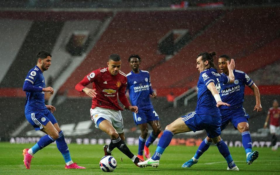 Mason Greenwood danced through a lumpen Leicester defence to score the equaliser - AFP