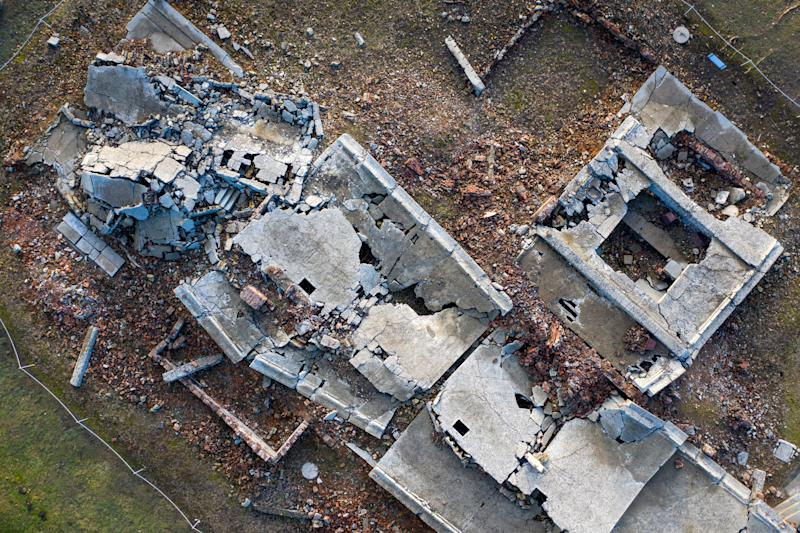 Ariel view of gas chambers 2019 (Christopher Furlong:Getty Images)