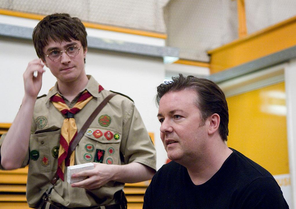 Daniel Radcliffe  and Ricky Gervais HBO's Extras