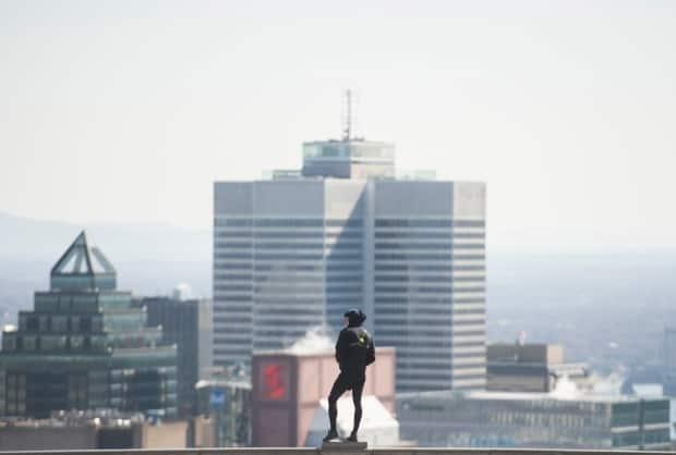 Montreal's downtown is dotted with new condominiums. But the average price of a rental unit has gone up. (Graham Hughes/The Canadian Press - image credit)