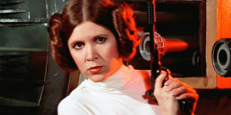 Carrie Fisher owning it as Princess Leia [Image via Lucasfilm]