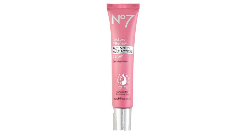 No7 Restore & Renew FACE & NECK MULTI ACTION Serum