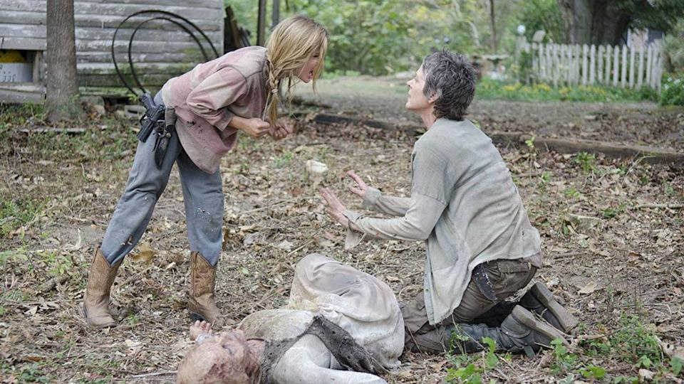 <p> &quot;The Grove&quot; isn&#x2019;t just the best Walking Dead episode &#x2013; it&#x2019;s one of the best episodes of television. Period. </p> <p> At its heart, this season 4 outing is all about confronting ugly truths. It doesn&apos;t start that way. The idyllic house that Carol, Tyreese, Lizzie, and Mika have found sanctuary within is one of the sweeter moments in the show. After all, things are normal. There&#x2019;s a kettle, a nice garden. People are happy. Everyone is loved. </p> <p> There&#x2019;s an inescapable feeling, however &#x2013; like a Twilight Zone episode that&#x2019;s about to unveil its twist &#x2013; that punctures each strained smile from Carol and warm embrace from Tyreese: this domestic detour can&#x2019;t last in a world as messed up as The Walking Dead&#x2019;s. It&#x2019;s a genuinely painful experience to re-visit because, arguably, it&#x2019;s the last time Carol found real peace, even if for just a fleeting moment. </p> <p> Things inevitably break down as the walls of the house seem to close in &#x2013; the direction becoming more claustrophobic with each passing act &#x2013; and Lizzie gives the child from the horror movie Hereditary a run for her money in the creepy kid stakes. </p> <p> By the episode&#x2019;s end, Carol tells Tyreese she was the one who murdered Karen, while she also has to kill a frenzied Lizzie in the series&#x2019; ultimate lump-in-the-throat scene. Both hurt in very different, equally traumatising, ways. </p> <p> But why does it deserve its place here ahead of all others? Because of the ending. Where some shows may look behind to survey the carnage, &quot;The Grove&quot; unflinchingly leaves the home and barely reflects upon what just happened, almost as if it was an everyday occurrence. Carol and Tyreese depart with barely a word said between them; &quot;The Grove&quot; had already said everything it needed to say. </p>