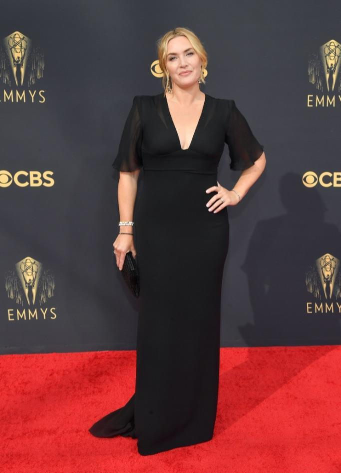 Kate Winslet at the 2021 Emmy Awards. - Credit: PMC