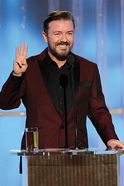 <p>Oh dear God, what next? Ricky Gervais maintained his reputation as the bad boy we love to hate this year, among those he insulted were Jodie Foster, Colin Firth and Natalie Portman (and that's just the beginning!).</p>