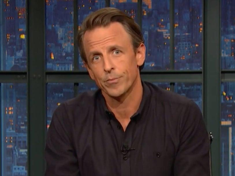 Seth Meyers has called out Donald Trump for his behaviour  (Screengrab/YouTube)
