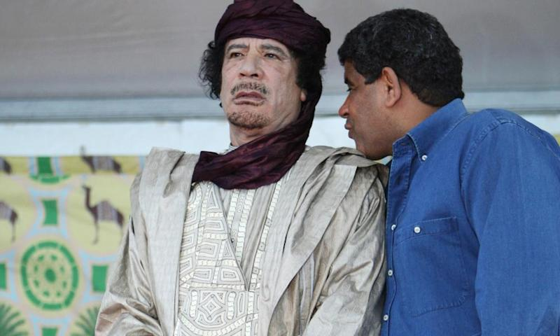 Gadhafi in Sabha in 2009. The former strongman leader went to secondary school in the city