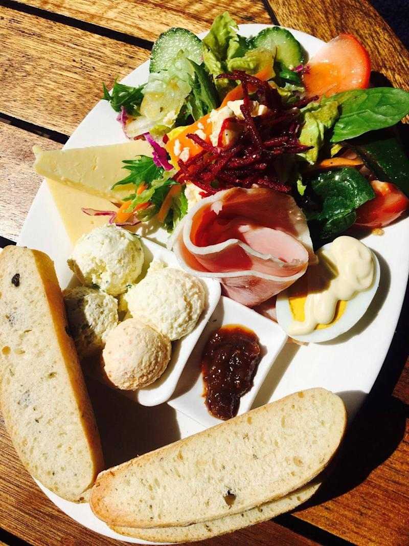 The Ploughman's Lunch at the Mungalli Falls Cheesery and Teahouse. Photo: Be