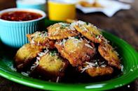 """<p>Serve this St. Louis specialty at Christmas along with marinara sauce for dipping. It's the perfect appetizer for just about any occasion.</p><p><strong><a href=""""https://www.thepioneerwoman.com/food-cooking/recipes/a11602/toasted-ravioli/"""" rel=""""nofollow noopener"""" target=""""_blank"""" data-ylk=""""slk:Get the recipe."""" class=""""link rapid-noclick-resp"""">Get the recipe.</a></strong></p><p><strong><a class=""""link rapid-noclick-resp"""" href=""""https://go.redirectingat.com?id=74968X1596630&url=https%3A%2F%2Fwww.walmart.com%2Fsearch%2F%3Fquery%3Dpioneer%2Bwoman%2Bdip%2Bbowls&sref=https%3A%2F%2Fwww.thepioneerwoman.com%2Ffood-cooking%2Fmeals-menus%2Fg34272733%2Fchristmas-party-appetizers%2F"""" rel=""""nofollow noopener"""" target=""""_blank"""" data-ylk=""""slk:SHOP DIP BOWLS"""">SHOP DIP BOWLS</a><br></strong></p>"""