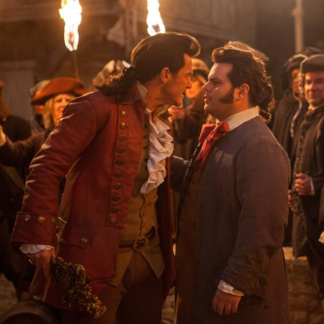 Luke Evans and Josh Gad in Beauty and the Beast credit:Bang Showbiz