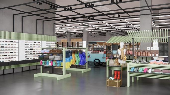 Interior of Bloomingdale's new store, Bloomie's - Credit: Courtesy of Bloomigndale's