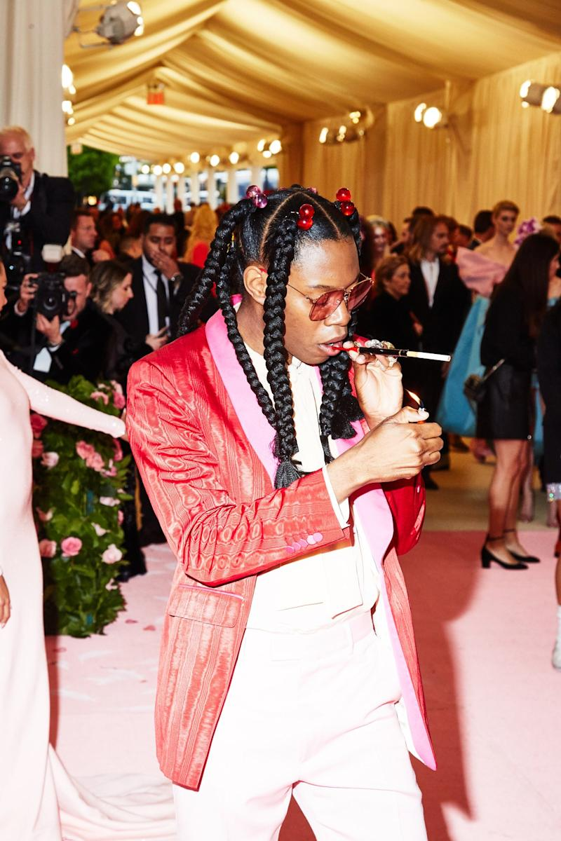 On the red carpet at the Met Gala in New York City on Monday, May 6th, 2019. Photograph by Amy Lombard for W Magazine.