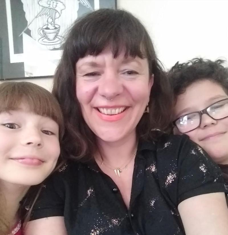 Kerry Mead with her son Sam, 11 and daughter Ruby, eight (Kerry Mead)