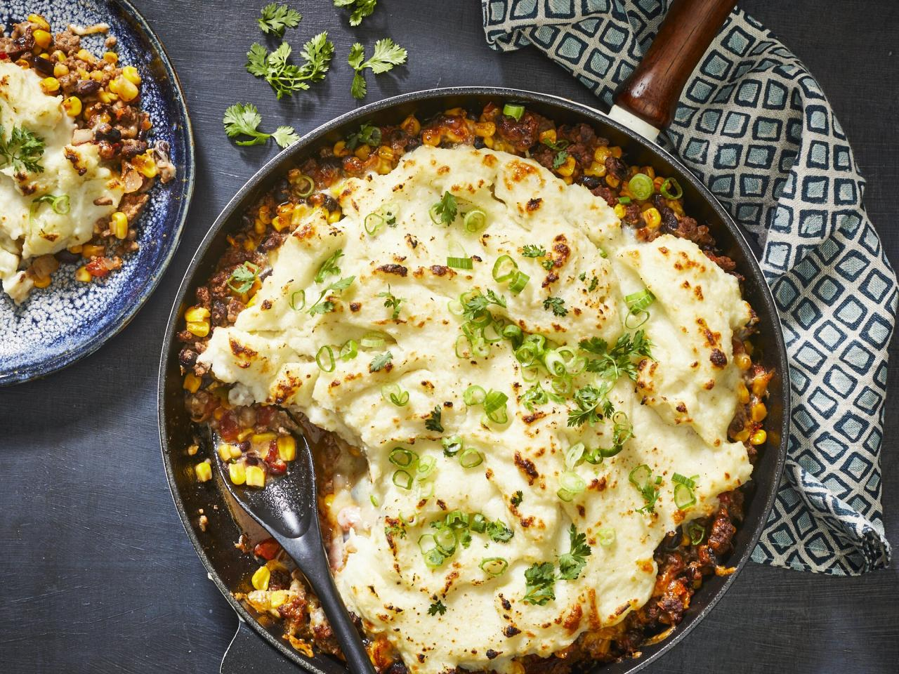 "<p>Shepherd's pie just got easier. This comfort dish takes advantage of a few shortcuts that don't lesson the flavor or quality of the meal, like refrigerated mashed potatoes and pico de gallo, so you can get dinner on the table fast. Make sure to brown your meat nicely, since it builds flavor. Substitute cheddar cheese for pepper jack, if you prefer it. </p> <p><a href=""https://www.myrecipes.com/recipe/easy-tex-mex-shepherds-pie"">Easy Tex-Mex Shepherd's Pie Recipe</a></p>"