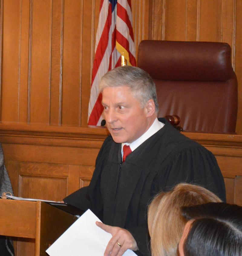 Putnam County Court Judge James Reitz is sworn in at the Putnam County Courthouse on Dec. 31, 2018.