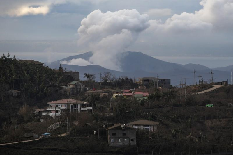 The Taal Volcano continues to spew ash as seen from Tagaytay