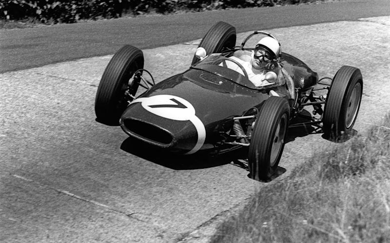 Moss at the Nurburgring in 1961 - GETTY IMAGES