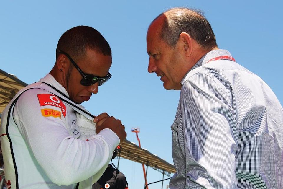 Ron Dennis with Lewis Hamilton during the driver's McLaren spell  (Getty Images)