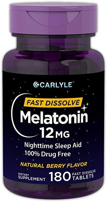 "<a href=""https://amzn.to/2I4flOo"" rel=""nofollow noopener"" target=""_blank"" data-ylk=""slk:Carlyle Melatonin Fast Dissolve Tablets"" class=""link rapid-noclick-resp"">Carlyle Melatonin Fast Dissolve Tablets</a> (Photo: Carlyle)"