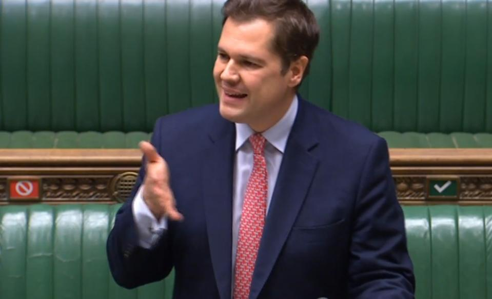 "Housing Secretary Robert Jenrick speaking in the House of Commons, London, he has faced accusations of ""cash for favours"" after it emerged the developer, ex-Daily Express owner Richard Desmond, had personally given the Conservative Party �12,000 two weeks after the scheme for 1,500 homes was approved."