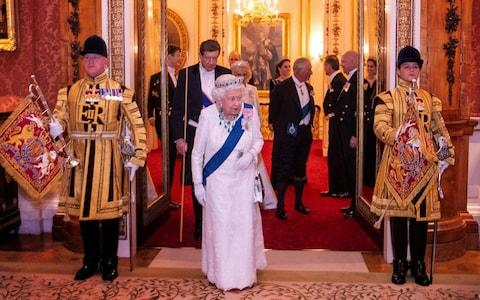 Queen Elizabeth II at an evening reception for members of the Diplomatic Corps at Buckingham Palace in London - Credit: Victoria Jones/PA