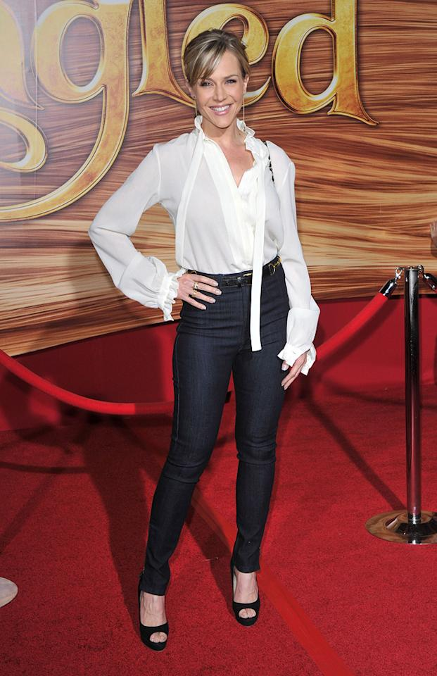 """<a href=""""http://movies.yahoo.com/movie/contributor/1800022679"""">Julie Benz</a> attends the Los Angeles premiere of <a href=""""http://movies.yahoo.com/movie/1810121160/info"""">Tangled</a> on November 14, 2010."""
