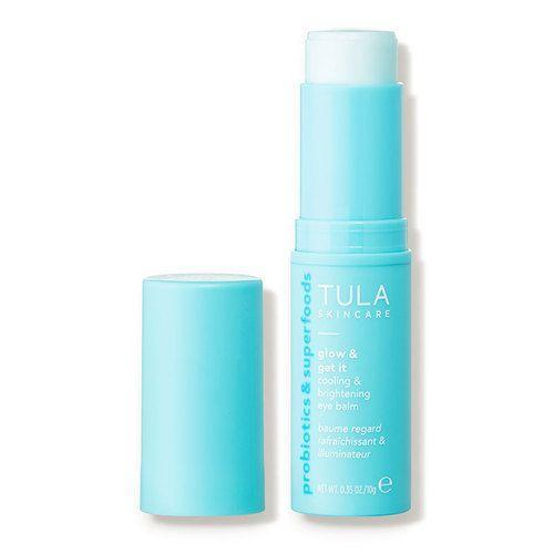 """<p><strong>Tula Skincare</strong></p><p>dermstore.com</p><p><strong>$28.00</strong></p><p><a href=""""https://go.redirectingat.com?id=74968X1596630&url=https%3A%2F%2Fwww.dermstore.com%2Fproduct_Glow%2BGet%2BIt%2BCooling%2BBrightening%2BEye%2BBalm%2B_80415.htm&sref=https%3A%2F%2Fwww.goodhousekeeping.com%2Fbeauty%2Fanti-aging%2Fg26858923%2Fbest-eye-creams%2F"""" rel=""""nofollow noopener"""" target=""""_blank"""" data-ylk=""""slk:Shop Now"""" class=""""link rapid-noclick-resp"""">Shop Now</a></p><p>Cool and calm tired eyes on contact with Tula's eye balm stick, great for waking up sleepy skin in the morning or for an afternoon pick-me-up. It's made with reviving, tightening caffeine, plus soothing aloe. """"The stick <strong>instantly cools around the eyes and helps me feel bright and awake</strong>,"""" a <a href=""""https://go.redirectingat.com?id=74968X1596630&url=https%3A%2F%2Fwww.dermstore.com%2F&sref=https%3A%2F%2Fwww.goodhousekeeping.com%2Fbeauty%2Fanti-aging%2Fg26858923%2Fbest-eye-creams%2F"""" rel=""""nofollow noopener"""" target=""""_blank"""" data-ylk=""""slk:Dermstore"""" class=""""link rapid-noclick-resp"""">Dermstore</a> reviewer said. </p>"""