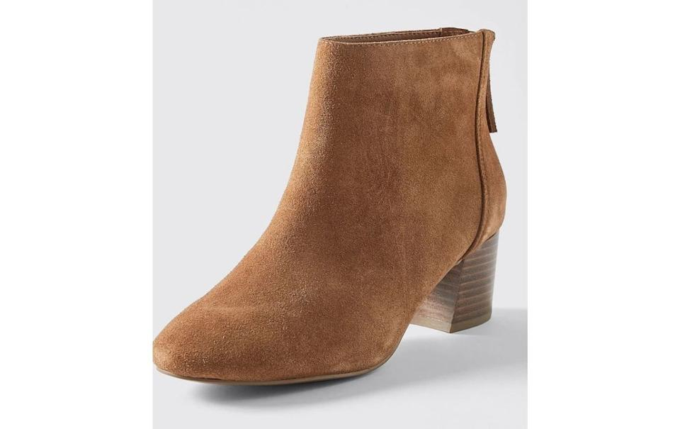 Belair Suede Round Toe Ankle Boots - Tan. Picture: Target