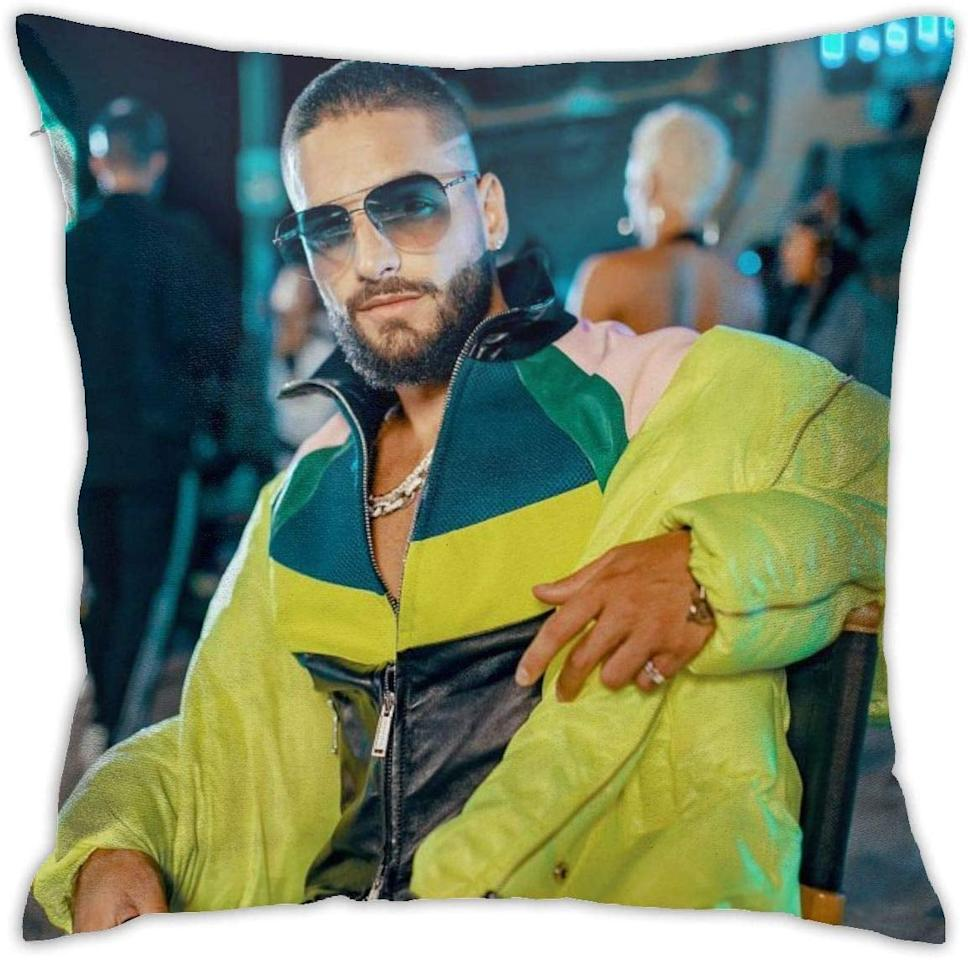 """<p>Millions of people only dream of laying in bed with their celebrity crush, but now you really can with this <a href=""""https://www.popsugar.com/buy/Maluma-Pillowcase-Cover-513632?p_name=Maluma%20Pillowcase%20Cover&retailer=amazon.com&pid=513632&price=11&evar1=pop%3Auk&evar9=46866424&evar98=https%3A%2F%2Fwww.popsugar.com%2Fcelebrity%2Fphoto-gallery%2F46866424%2Fimage%2F46867244%2FMaluma-Pillowcase-Cover&prop13=api&pdata=1"""" rel=""""nofollow"""" data-shoppable-link=""""1"""" target=""""_blank"""" class=""""ga-track"""" data-ga-category=""""Related"""" data-ga-label=""""https://www.amazon.com/KOTHER-Pillowcase-Pillows-Custom-Cusual/dp/B07WJ22HW9/ref=sr_1_10?keywords=maluma+merch&amp;qid=1573151901&amp;sr=8-10"""" data-ga-action=""""In-Line Links"""">Maluma Pillowcase Cover</a> ($11).</p>"""