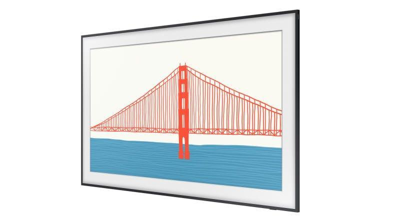 The Frame's portrait-like bezels and display artwork are customizable.