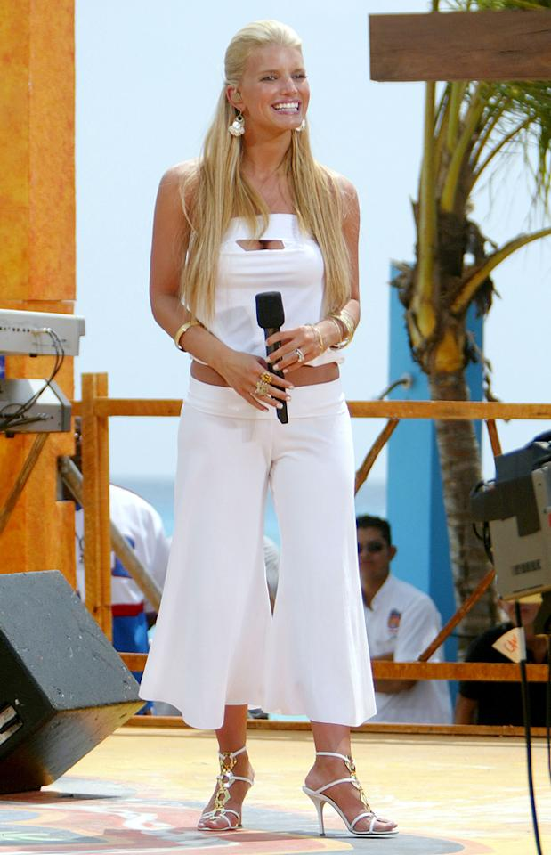 We're not eager for culottes to make a comeback, and for good reason. In 2004, at MTV's Spring Break party, Jessica Simpson sported a stark-white culotte ensemble. Paired with bleached blond locks, a midriff-baring shirt, and strappy white heels, it was almost too much to handle.