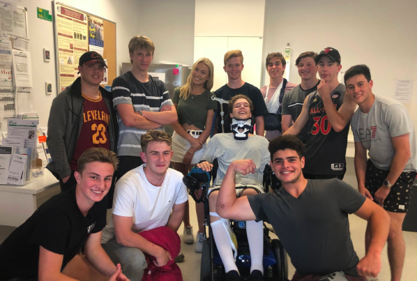 Alex's friends have been a huge help in his bid to stay positive. Source: Alex Noble