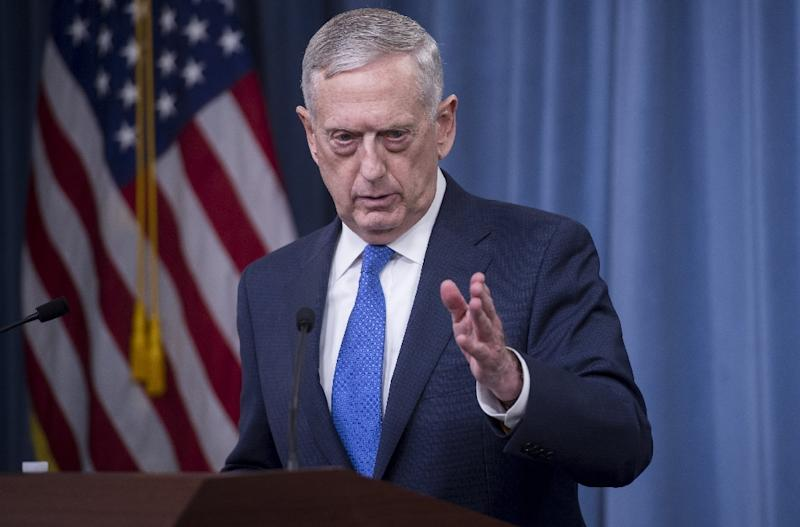 Mattis's visit, his second to the region, is the latest in a string of appearances by top US officials who have scrambled to reassure partners about US commitments (AFP Photo/SAUL LOEB)