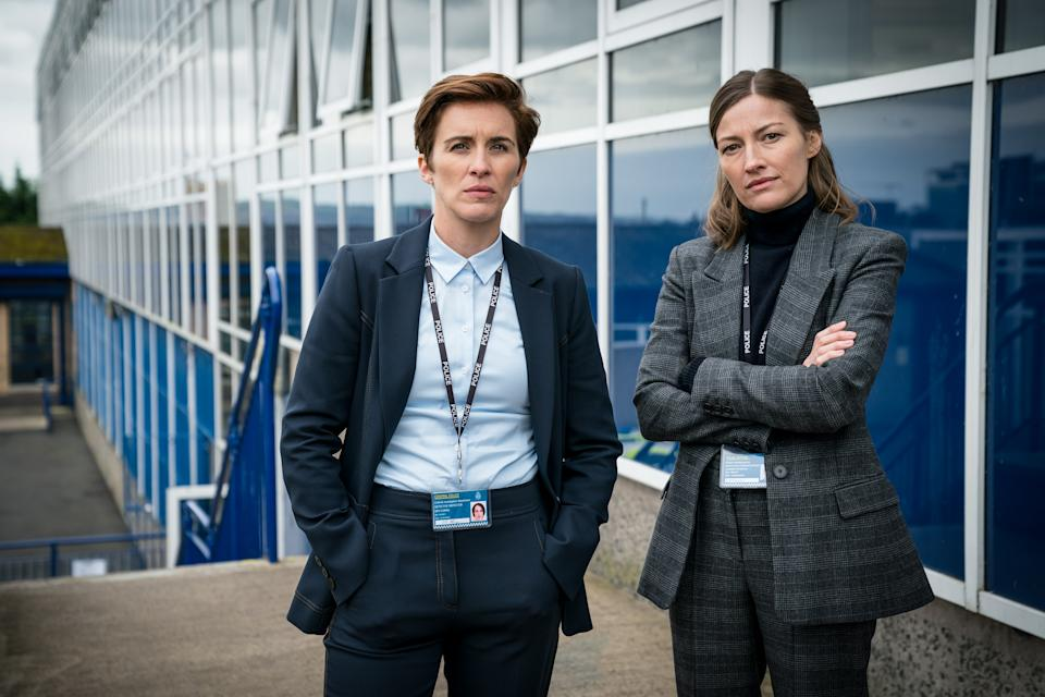 Programme Name: Line of Duty S6 - TX: n/a - Episode: Line Of Duty - Ep 4 (No. n/a) - Picture Shows:  DI Kate Fleming (VICKY MCCLURE), DCI Joanne Davidson (KELLY MACDONALD) - (C) World Productions - Photographer: Steffan Hill