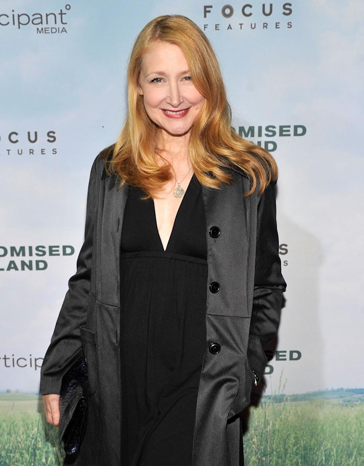 """NEW YORK, NY - DECEMBER 04:  Actress Patricia Clarkson attends """"Promised Land"""" premiere at AMC Loews Lincoln Square 13 theater on December 4, 2012 in New York City.  (Photo by Stephen Lovekin/Getty Images)"""