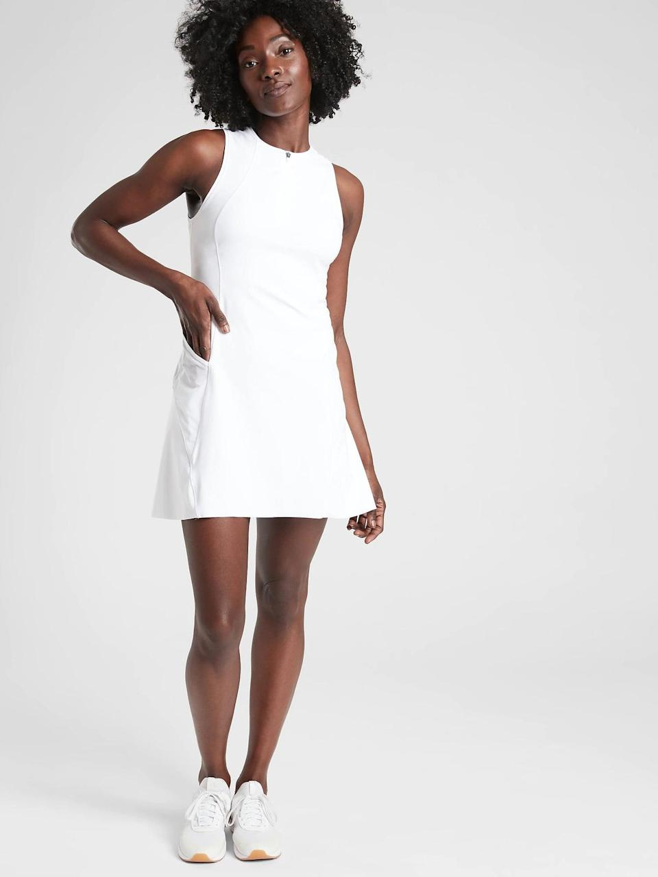 <p>Elevate your tennis game in this adorable <span>Athleta Match Point Dress</span> ($89).</p>