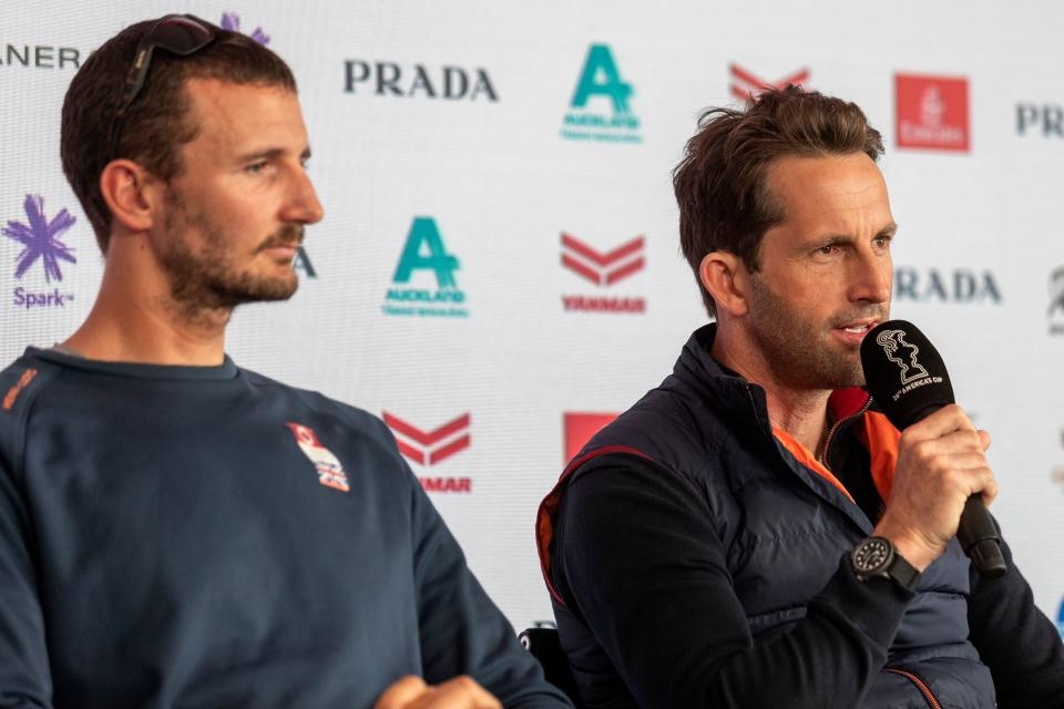 Ben Ainslie (right) and Giles Scott are the tactical brains on the water for Britain's America's Cup challenge