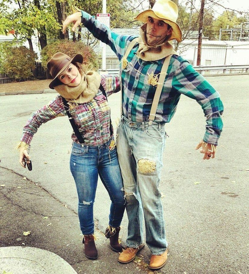 """<p>No overalls, no problem. Everyone has a pair of jeans and a plaid shirt, right? Put on a hat, a little makeup, and some strategically placed straw, and your costume is complete. </p><p><strong>Get the tutorial at <a href=""""https://craftybridge.com/portfolio/scarecrow-costumes/"""" rel=""""nofollow noopener"""" target=""""_blank"""" data-ylk=""""slk:Crafty Bridge"""" class=""""link rapid-noclick-resp"""">Crafty Bridge</a>.</strong></p><p><a class=""""link rapid-noclick-resp"""" href=""""https://www.amazon.com/Dickies-Industrial-Strength-Suspenders-Adjustable/dp/B07KQ4JDWV/ref=sr_1_2?dchild=1&isTryState=1&keywords=suspenders+clip+on&nodeID=14807110011&psd=1&qid=1592595585&s=prime-wardrobe&sr=1-2&tag=syn-yahoo-20&ascsubtag=%5Bartid%7C10050.g.28190286%5Bsrc%7Cyahoo-us"""" rel=""""nofollow noopener"""" target=""""_blank"""" data-ylk=""""slk:SHOP SUSPENDERS"""">SHOP SUSPENDERS</a></p>"""
