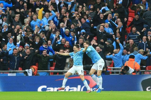 Samir Nasri (left) scored a superb goal in the victory over Sunderland