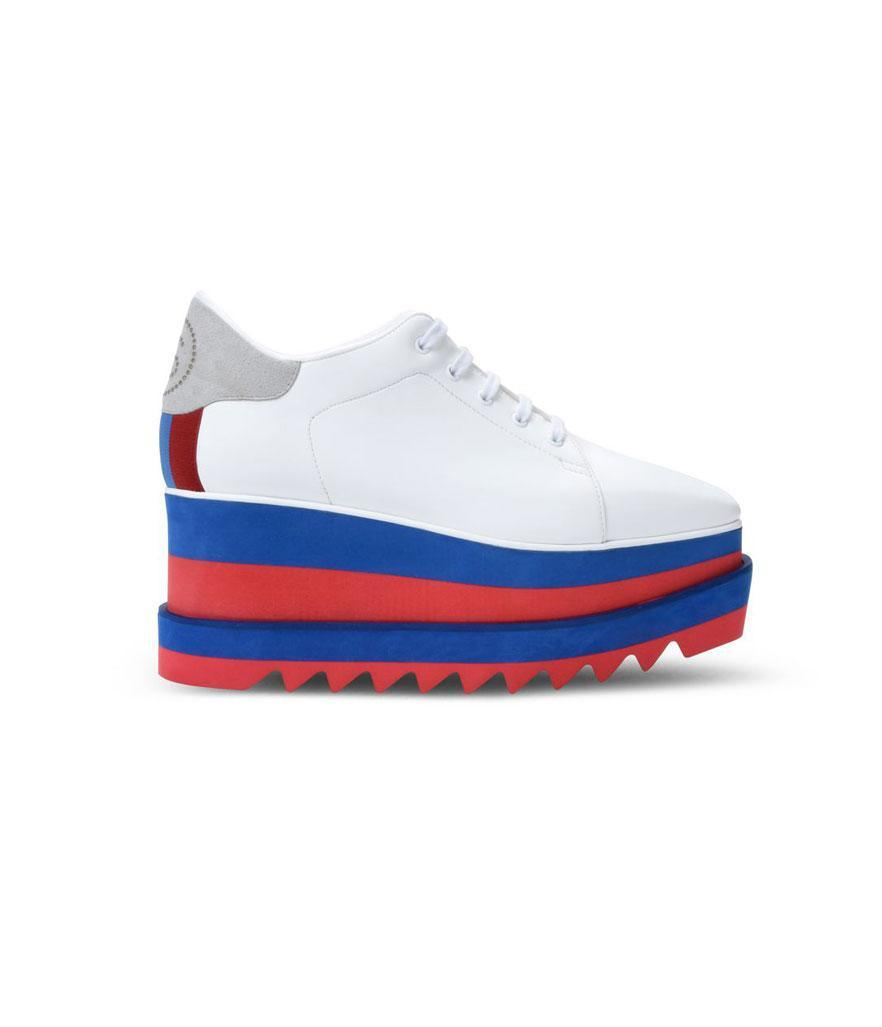 "<p>White Sneak-Elyse, $695, <a href=""https://www.stellamccartney.com/us/stella-mccartney/sneakers_cod11271649hu.html"" rel=""nofollow noopener"" target=""_blank"" data-ylk=""slk:stellamccartney.com"" class=""link rapid-noclick-resp"">stellamccartney.com</a> </p>"