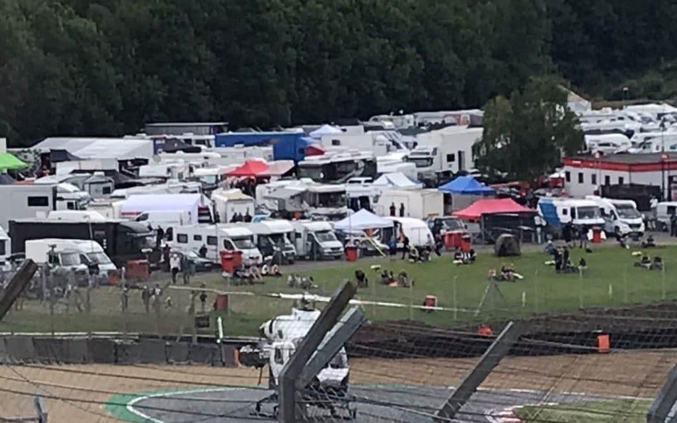 Police and ambulances are at the scene at the world-famous race track near Dartford