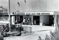 This undated image provided by Ethel M Chocolates, shows the visitors entrance to the Ethel M Chocolates factory in Henderson, Nev. NASCAR driver Kyle Busch first went to the Ethel M candy factory with his grandmother. It wasn't a tourist stop to the young Busch, it was a candy store and his grandmother let him roam the cactus garden and rewarded him with the craft chocolates. It comes full circle Sunday at home track Las Vegas Motor Speedway. Ethel M is part of the Mars Corp., the longtime sponsor of Busch's team. Busch will feature the brand on his car in Sunday's race. (Ethel M Chocolates via AP)