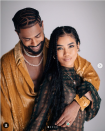 """<p>""""Big Sean's eyes are completely cast on Jhene, telling us he only has eyes for her,"""" says Donaldson. And that smile means he's genuinely enjoying this moment he's sharing with Jhené. </p><p>Jhené's also holding Big Sean's arm around her, says Donaldson, """"This is her way of outwardly telling the world that they belong together.""""</p>"""