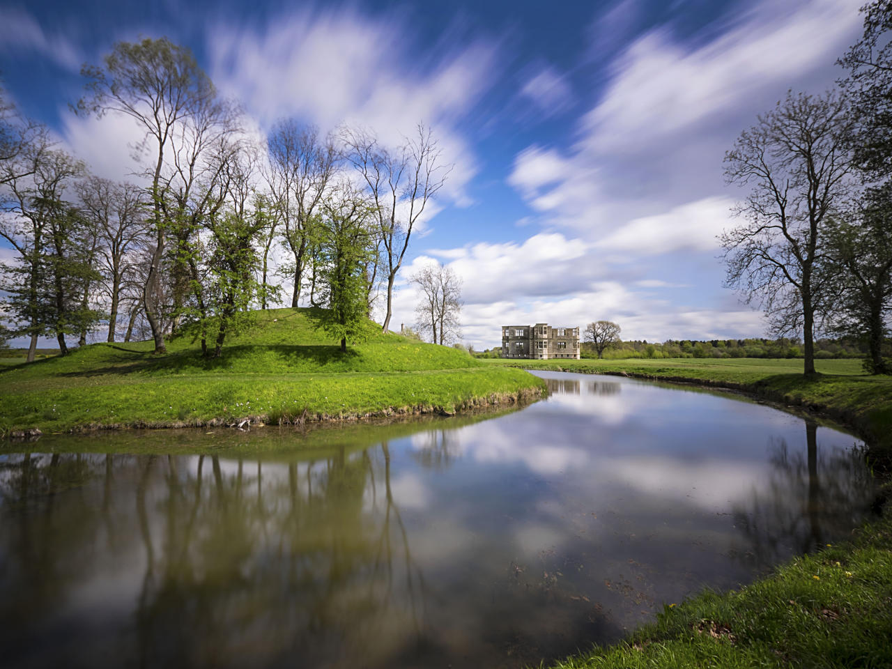 Lyveden New Bield, Northamptonshire. Heritage sites around the world are under threat due to conditions created by climate change. Increased risk for floods or fire put some of the world's most famous monuments and locations in jeopardy. (Getty)