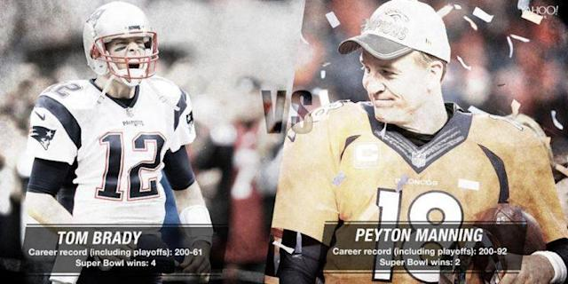 Tom Brady matched Peyton Manning with his 200th career win in 31 fewer starts. (Yahoo Sports)