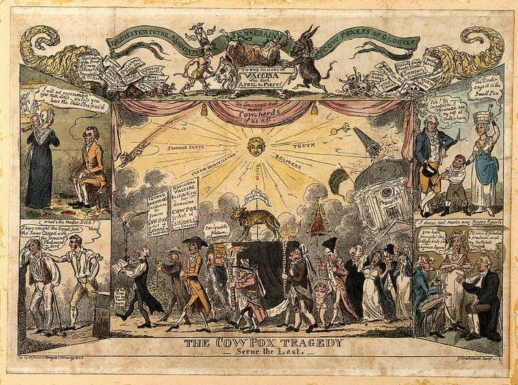 19th century cartoon of people marching in protest