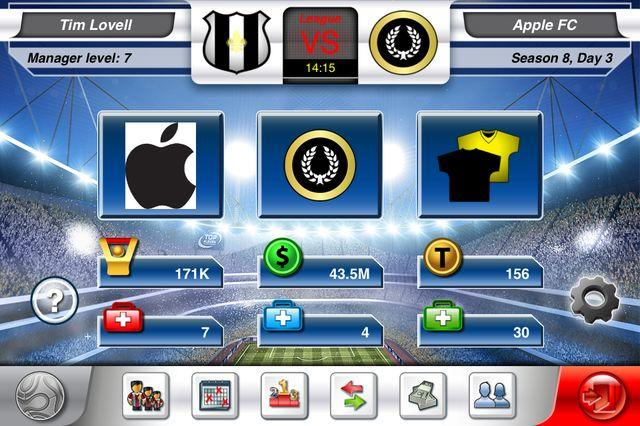 Top Eleven iPhone in action