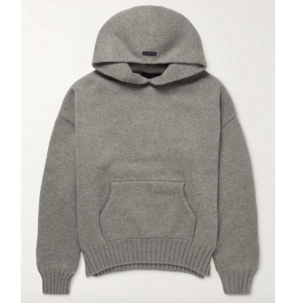 """<p><strong>Fear Of God</strong></p><p>mrporter.com</p><p><strong>$1215.00</strong></p><p><a href=""""https://go.redirectingat.com?id=74968X1596630&url=https%3A%2F%2Fwww.mrporter.com%2Fen-us%2Fmens%2Fproduct%2Ffear-of-god%2Fclothing%2Fhooded%2Foversized-wool-hoodie%2F13452677152163946&sref=https%3A%2F%2Fwww.esquire.com%2Flifestyle%2Fg23013003%2Fbest-gifts-for-husband-ideas%2F"""" rel=""""nofollow noopener"""" target=""""_blank"""" data-ylk=""""slk:Buy"""" class=""""link rapid-noclick-resp"""">Buy</a></p><p>A wool hoodie? Oh hell yes. Fear of God is a label he'll want in his closet, and this piece is one he'll want on his body when the temperature dips.</p>"""