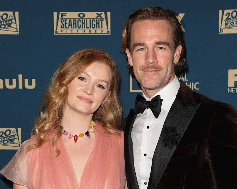 James Van Der Beek and his wife at an even t
