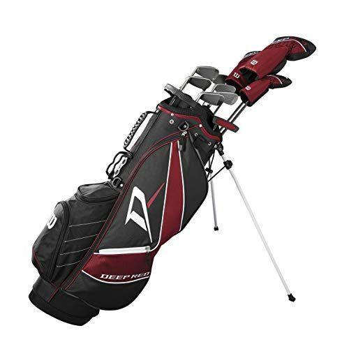 """<p><strong>Wilson Sporting Goods</strong></p><p>amazon.com</p><p><strong>$576.97</strong></p><p><a href=""""https://www.amazon.com/dp/B07N4Q7KBK?tag=syn-yahoo-20&ascsubtag=%5Bartid%7C2139.g.37065486%5Bsrc%7Cyahoo-us"""" rel=""""nofollow noopener"""" target=""""_blank"""" data-ylk=""""slk:Shop Now"""" class=""""link rapid-noclick-resp"""">Shop Now</a></p><p>This Wilson Deep Red Tour is another top seller on Amazon, and comes in three different sizes: standard, tall and teen. The set includes: a 10.5° driver with a graphite shaft, a #3 fairway wood with graphite shaft, a #5 hybrid, irons: #6, 7, 8, 9, a pitching wedge, a sand wedge, a putter, plus a carry bag and three head covers.</p>"""